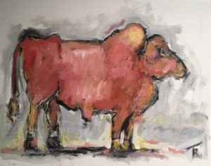 Simmental Bull by Tom Russell