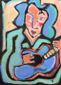 Lady Troubadour (after Matisse) by Tom Russell
