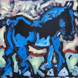 Blue Draft Horse by Tom Russell
