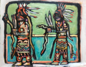 Hopi Snake Dancers by Tom Russell