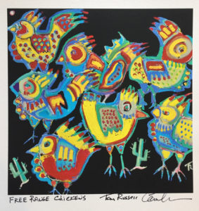 Free Range Chickens print by Tom Russell