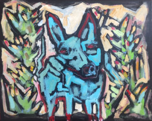 Wild Blue Dog Agave Dog by Tom Russell