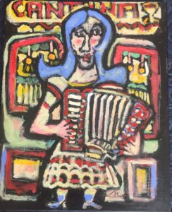 Cantina Accordion Player by Tom Russell