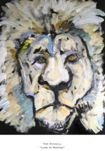 Lion in Winter Giclée Print by Tom Russell