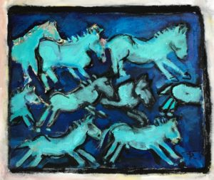 Blue Horse Stampede by Tom Russell