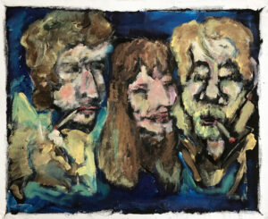 Bob Dylan, Karen Dalton, Dave Van Ronk – 1962, Greenwich Village by Tom Russell