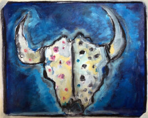 Blackfoot Buffalo Skull – Ceremonial by Tom Russell
