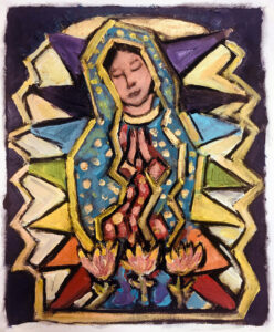 Guadalupe – Our Lady of the Stained Glass Window by Tom Russell