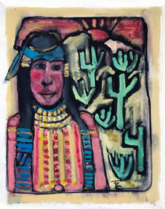 Pima Woman – Sonoran Desert by Tom Russell