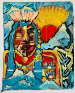 Blue Mountain Sunrise – Paiute Shaman by Tom Russell